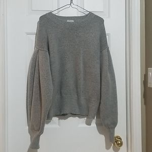 Olivia Warren Extreme Balloon Sleeve Grey Sweater